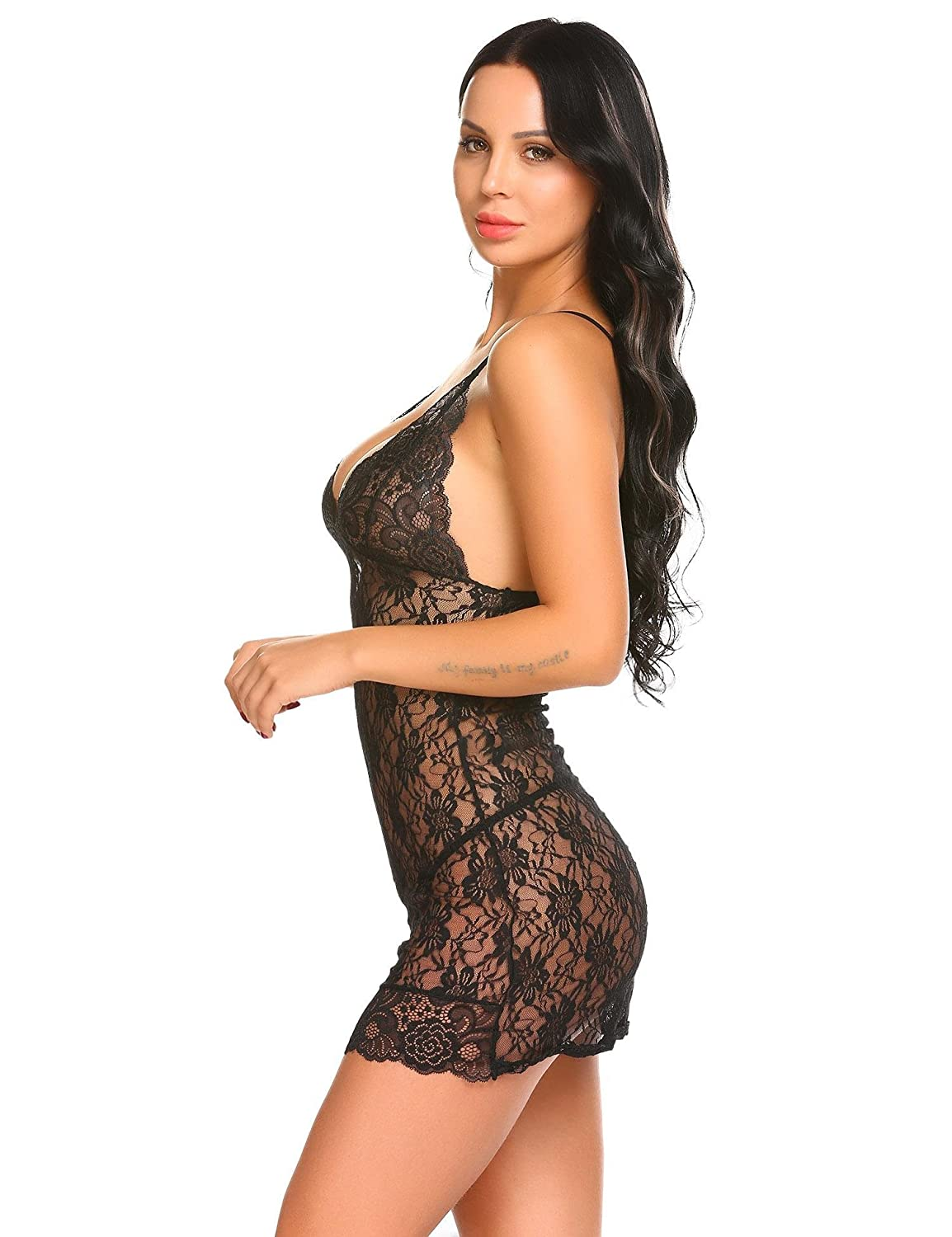 Dongba Women Sexy Lingerie Set Lace Sheer Nightwear Chemise for Valentine s  Day Gift at Amazon Women s Clothing store  db33541a7