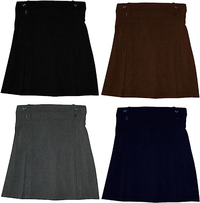Las niñas escuela uniformes faldas mitad elástica plisado falda ...