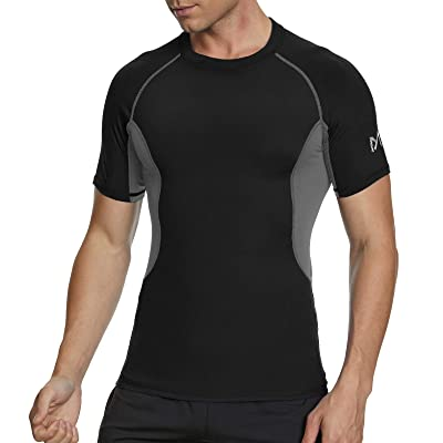 YOKGO Men/'s Athletic Compression Shirt Cool Dry Long Sleeve Underwear Top Sport Workout T Shirts