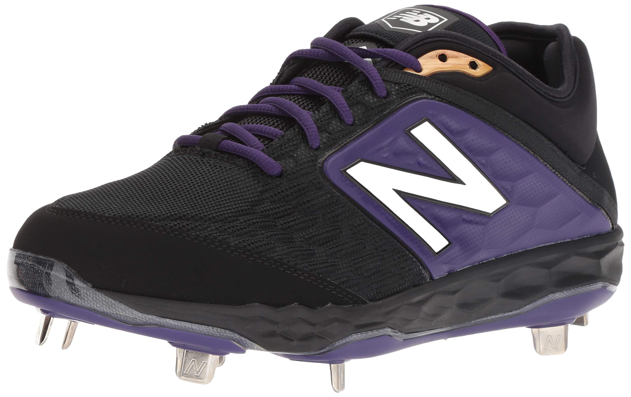 New Balance Men's 3000v4 Baseball Shoe, Black/Purple, 5 D US