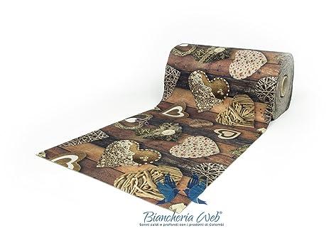 Biancheriaweb tappeto passatoia antiscivolo disegno shabby legno