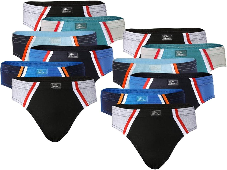 BestBuy-Shop 6-12er Pack Herren Slip in sch/önen Farbkombinationen und Muster 100/% Baumwolle weich und komfortabel Gr/ö/ße S bis 3XL
