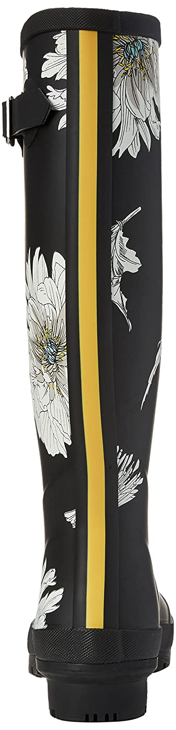 Joules Womens Welly Print Rubber Boots WELLYPRINT-BLKFLOR