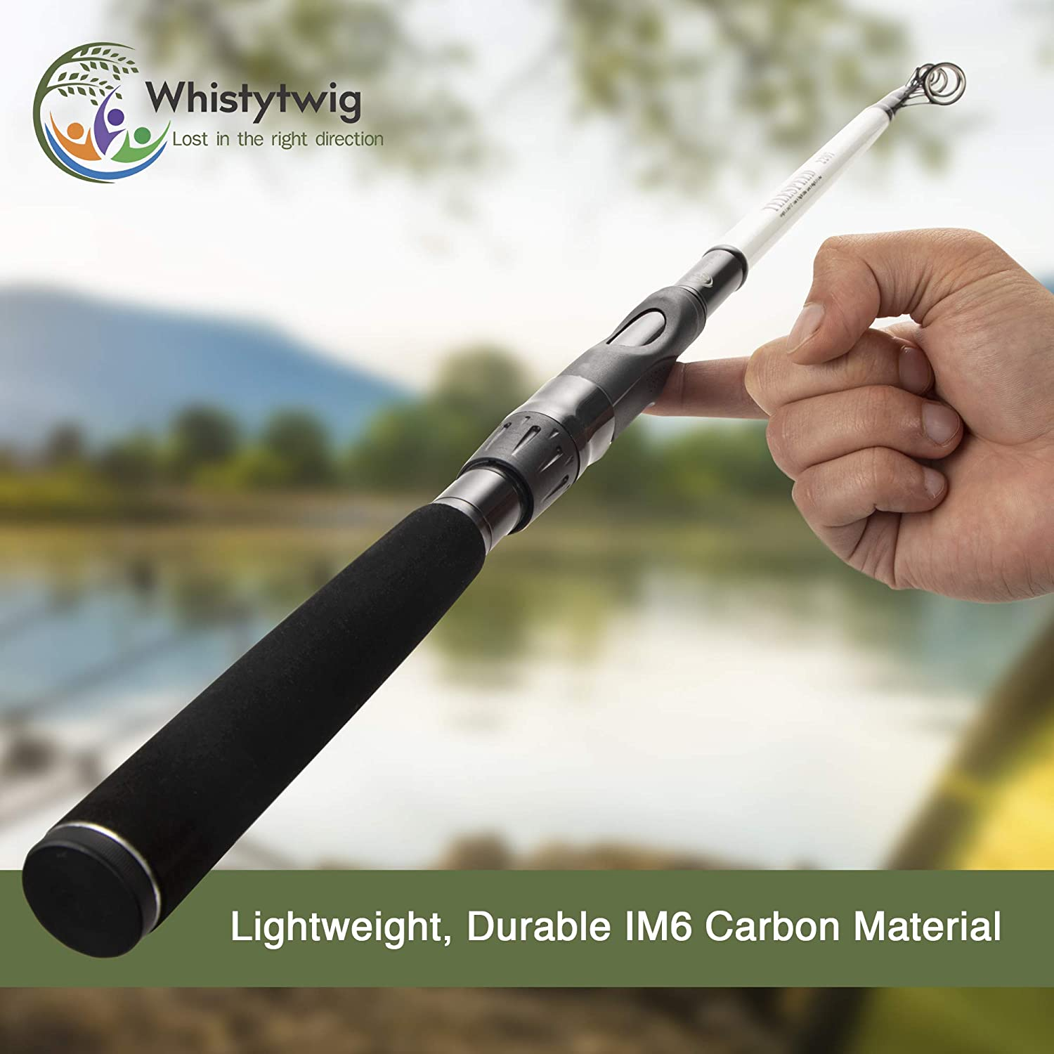 Durable Poles Telespeed 2207 Boating Trips Whistytwig Telescopic Fishing Rod Premium Quality Rods Lightweight Carbon Fiber Collapsible Freshwater and Saltwater Fishing Pole for Travel Gear