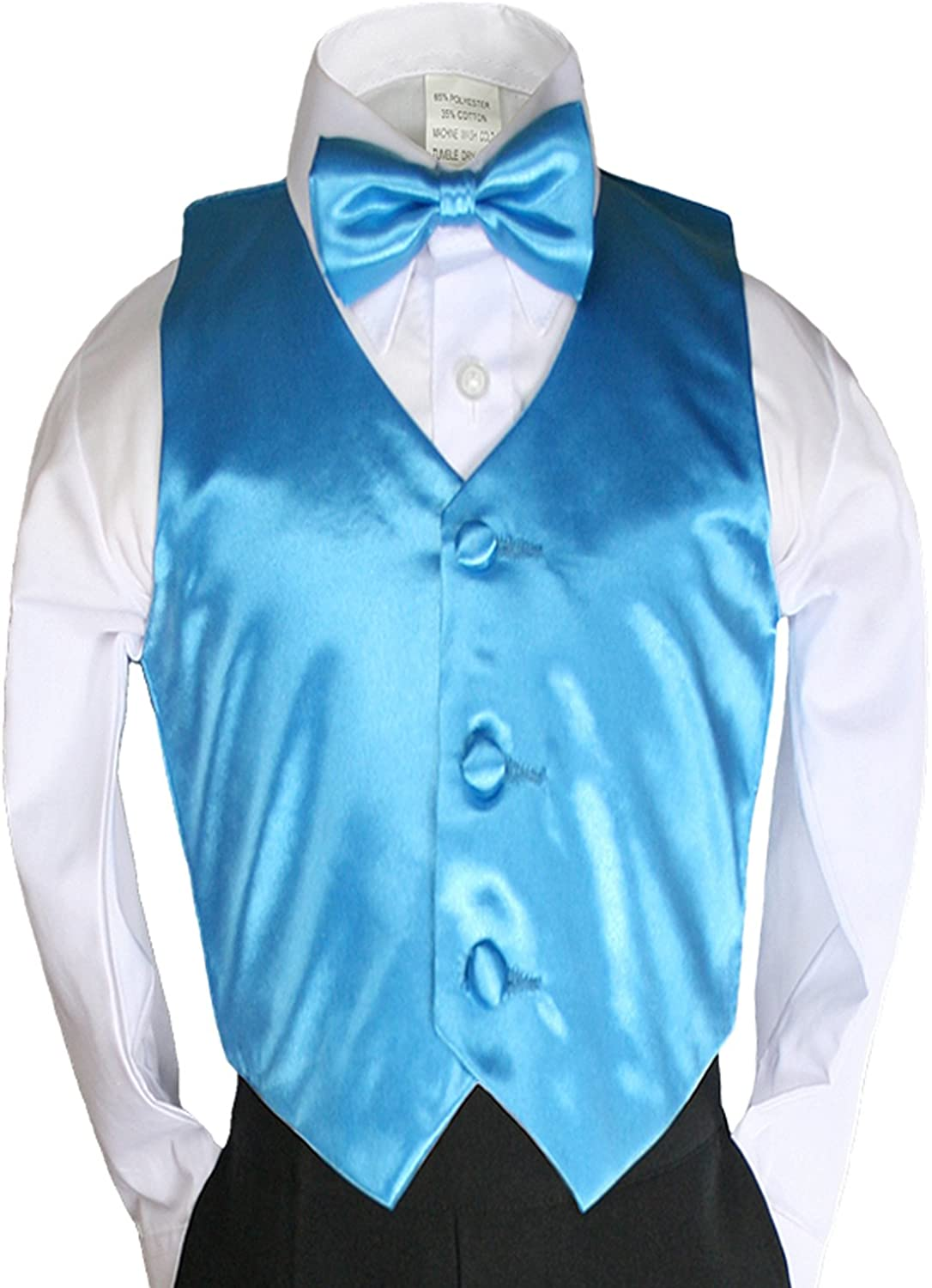 Classic Gift Wedding Party Tuxedo Suits Color Satin Vest /& Bow tie Only from Boy Baby New Born Toddler Size Sm-4T