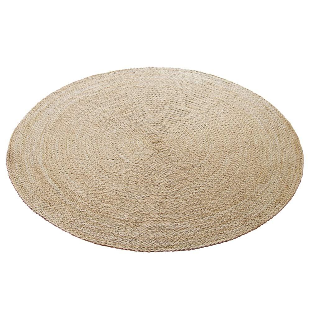 ZXH Teppich, Runde Jute Haushalt hohe Qualität handgemacht Teppich Wohnzimmer Schlafzimmer Bodenmatte (größe : 200cm)