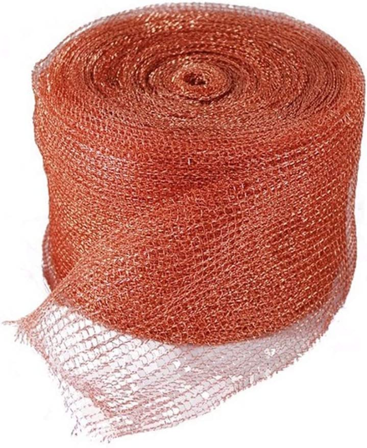 "GeBot 5""X20FT Knitted Copper Mesh for Wildlife Control, Copper Blocker Wildlife Stopper Copper Mesh Scrubber, Gun Barrels Clean, Fill Fabric DIY"