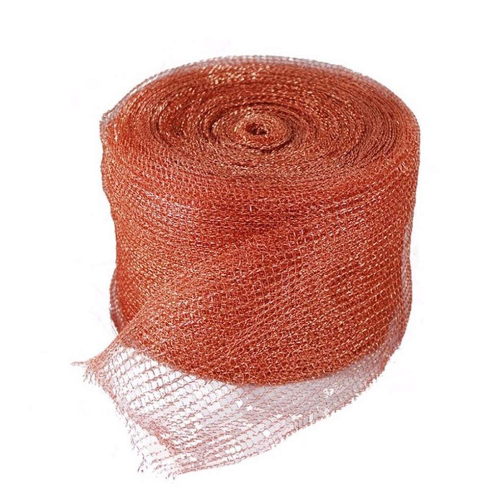 GeBot 5'' X50FT Knitted Copper Mesh for Wildlife Control, Copper Blocker Wildlife Stopper Copper Mesh Scrubber, Gun Barrels Clean, Fill Fabric DIY by GeBot