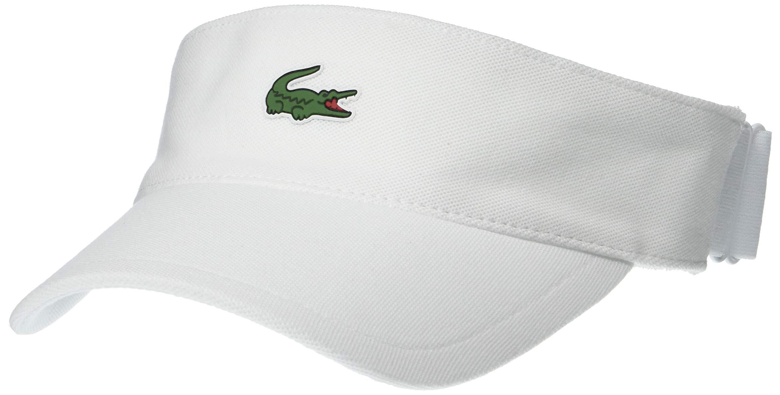 Lacoste Men's Sport Petit Pique Golf Visor, White, One Size by Lacoste
