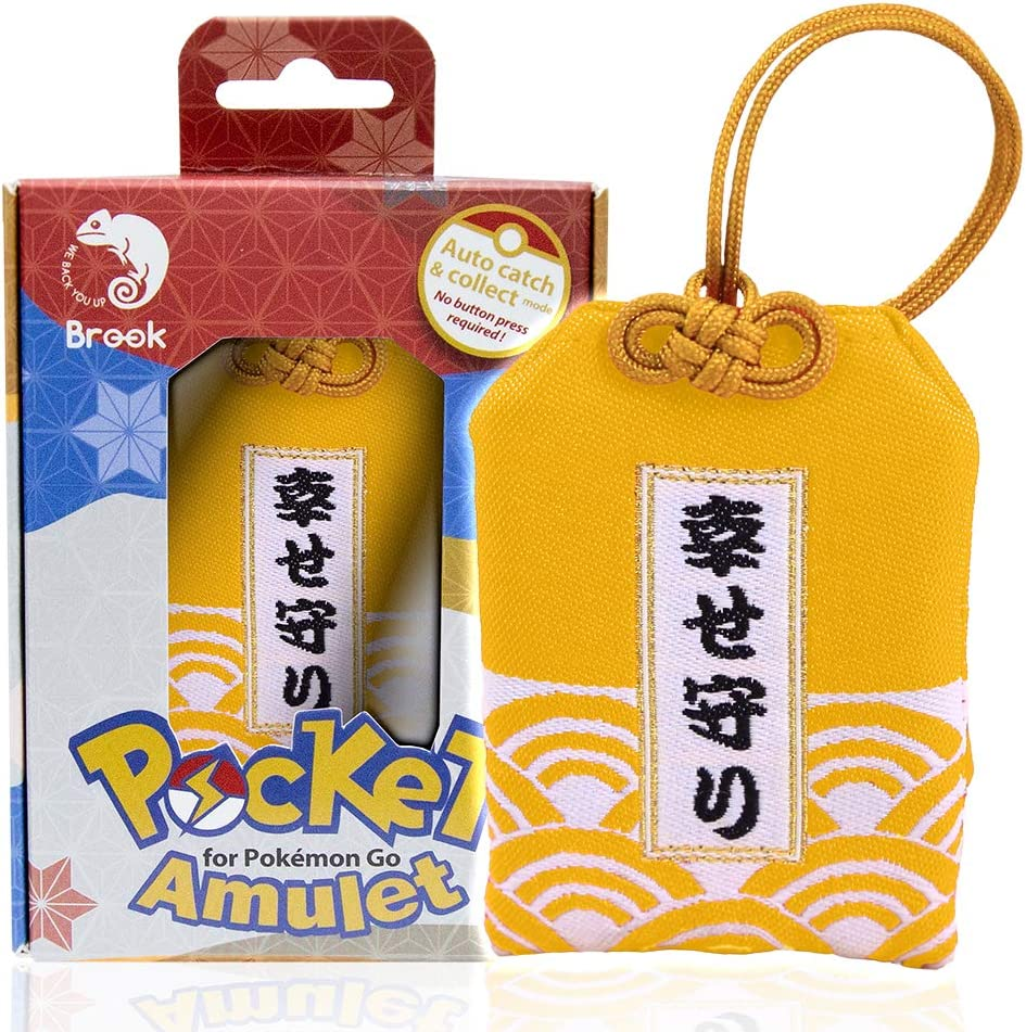 Brook Pocket Amulet Lucky Charm Pok/émon Go with Auto Catch and Auto Spin Brings Good Luck