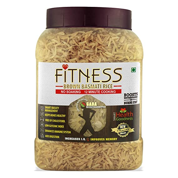 Shrilalmahal Fitness Brown Basmati Rice Weight Loss Special 1 Kg Jar Low Glycemic Index Gluten Free Amazon In Grocery Gourmet Foods