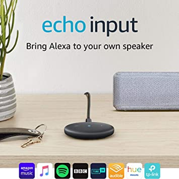 9dc817652a9f4e Echo Input (Black) - Bring Alexa to your own speaker - Requires an external  speaker with 3.5mm audio-input or Bluetooth: Amazon.co.uk: Kindle Store