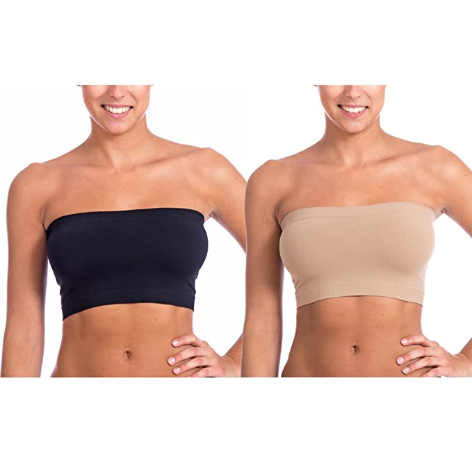 71751f9463 Level 33 Women s Stretch Seamless Tube Top Bandeau Super 2 Pack (One Size