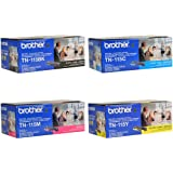Brother TN115BK, TN115C, TN115M, TN115Y High Yield Black, Cyan, Magenta and Yellow Toner Cartridge Set
