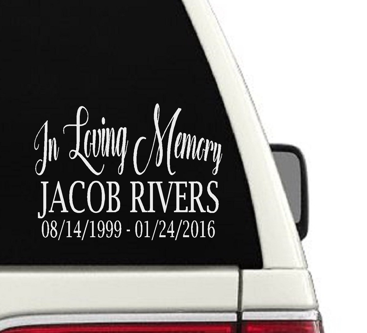 Amazon com in loving memory custom car decal memorial sticker 12 6x8 handmade