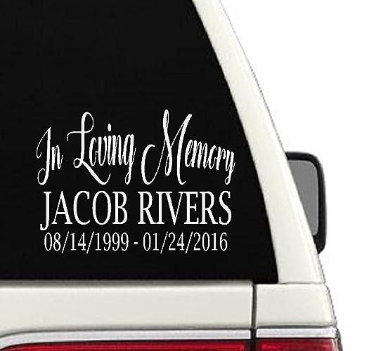 In loving memory custom car decal memorial sticker 12 6x8