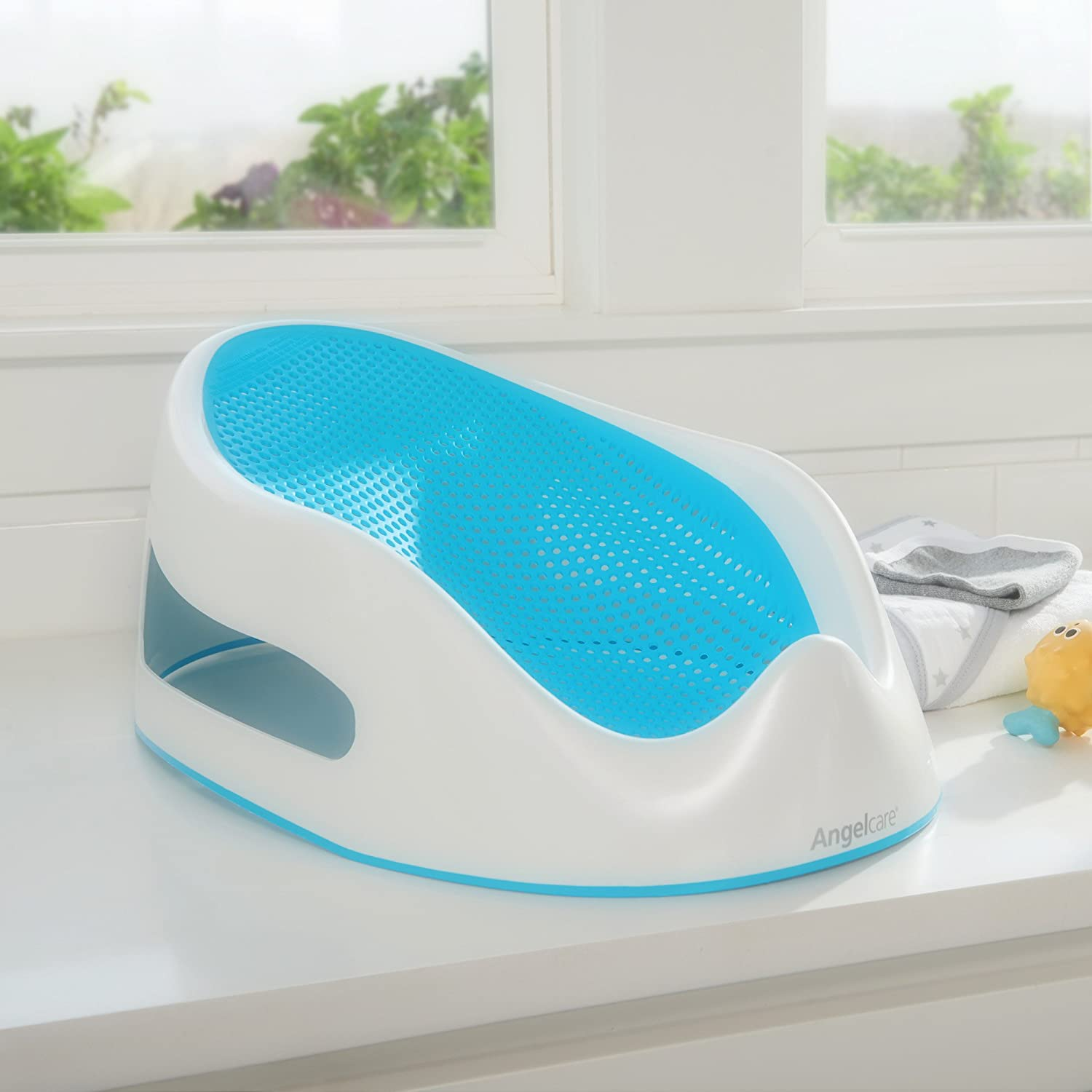 Amazon.com : Angelcare Baby Bath Support, Aqua : Baby Bathing Seats ...