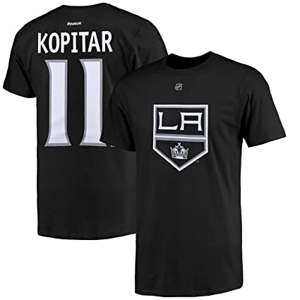 c054e997a Outerstuff NHL Youth Team Color Player Name and Number Jersey T-Shirt (Anze  Kopitar