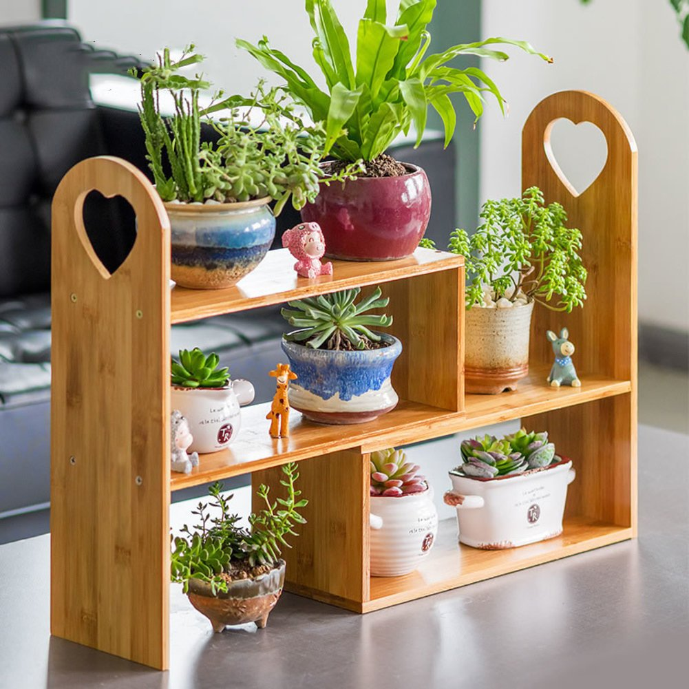 Indoor flower rack wooden multi-storey shelf balcony shelf-A by Flower racks