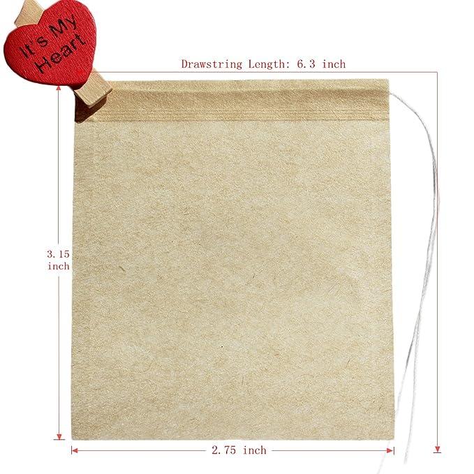Amazon.com: Bolsas filtro de té con papel 100 ...