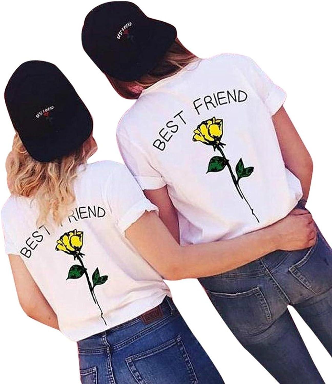 Minetom Mujeres Best Friend Camiseta Manga Corta Impresión Mejor Amiga Blusa Túnica Verano Camisa Divertidas T-Shirt Tops Regalo de Cumpleaños: Amazon.es: Ropa y accesorios