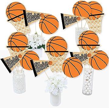 Big Dot of Happiness nada más que red – Baloncesto – Baby Shower o fiesta de cumpleaños Centro de mesa palos – Juego de 15: Amazon.es: Juguetes y juegos
