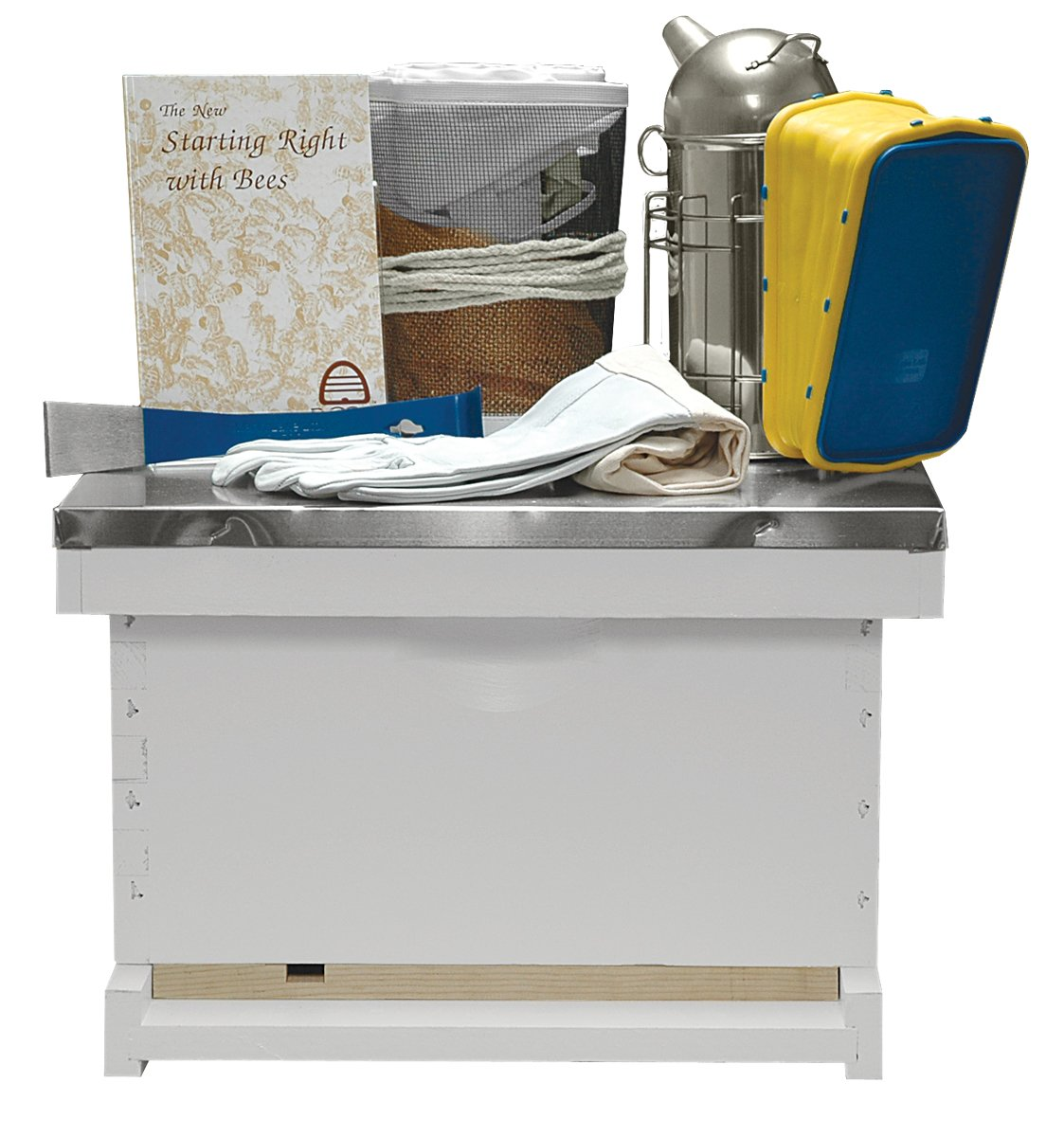 Basic Beekeeping Starter Kit, Completely Assembled, Painted, Made In The USA