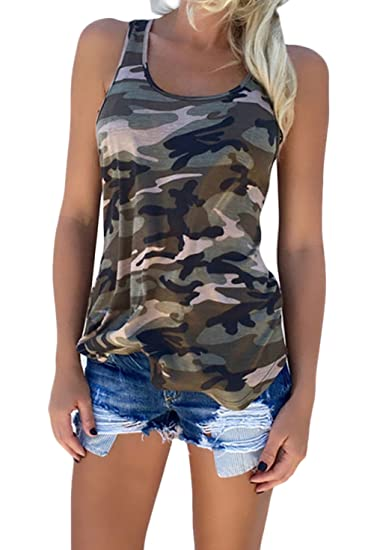 Lannister Fashion Chalecos Mujer Sin Mangas Cuello Redondo Verano Tank Top Camouflage Militar Boyfriend Blusas Moda Casual Tops T-Shirt Ropa Fiesta Moda: ...