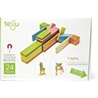 Tegu Magnetic Wooden Block Set, Tints, 24 Piece