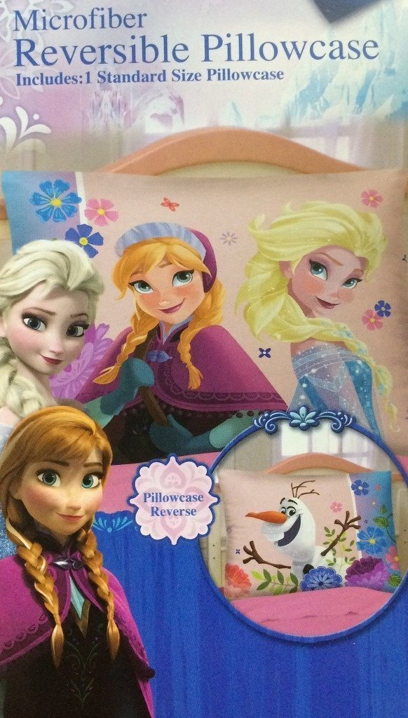Disney Frozen Princess Reversible Pillowcase Flowering Friendship