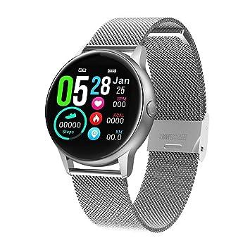 naack smartwatch, Reloj Inteligente Impermeable IP68 Pulsera de Actividad Pulsómetro Monitor de sueño Deportivo Cronómetro Contador de calorias para ...