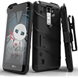 LG Stylo 2 Case, Zizo [Bolt Series] with FREE [LG Stylo 2 Screen Protector] Kickstand [12 ft. Military Grade Drop Tested] Holster Belt Clip - LG LS775