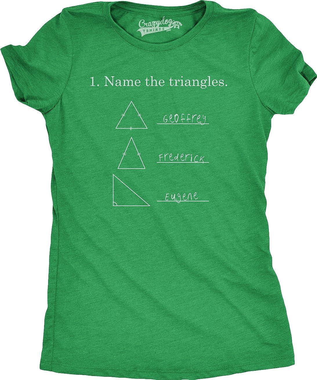 Name The Triangles Funny Math T Shirts Sarcasm Novelty I Love Math Tee Humor