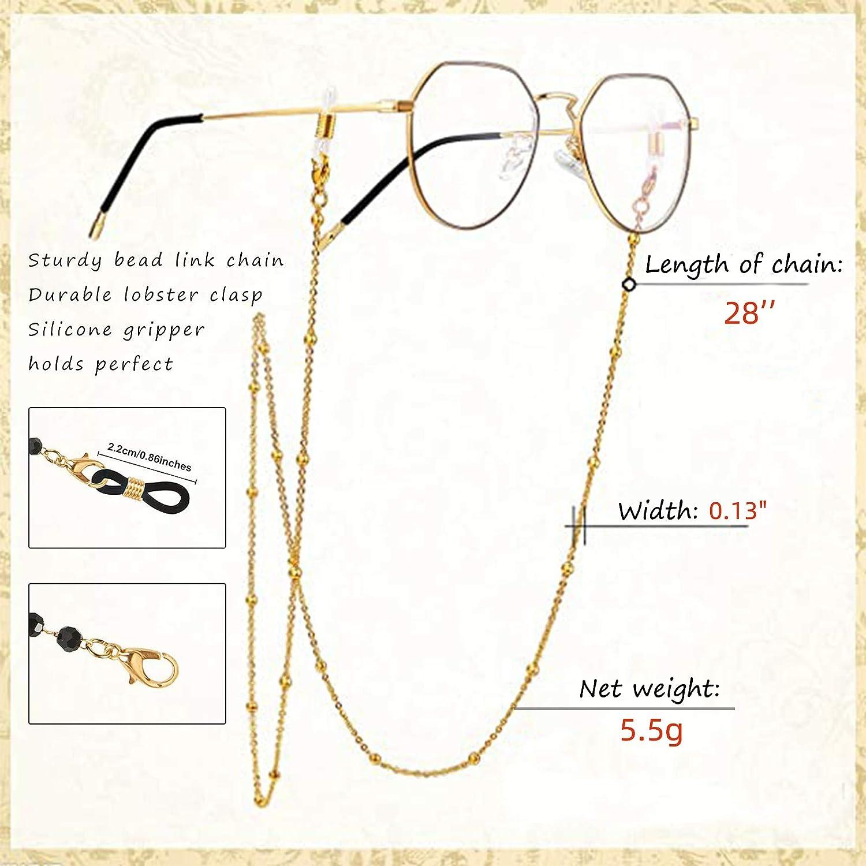 Men Anti-Lost Light Lanyard for Face Glasses Chain Holder for Women Teen Elderly 4 Pcs Mask Chains and Cords for Women