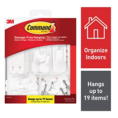 Command General Purpose Variety Kit, 17231-ES, Hangs Up to 19 Items