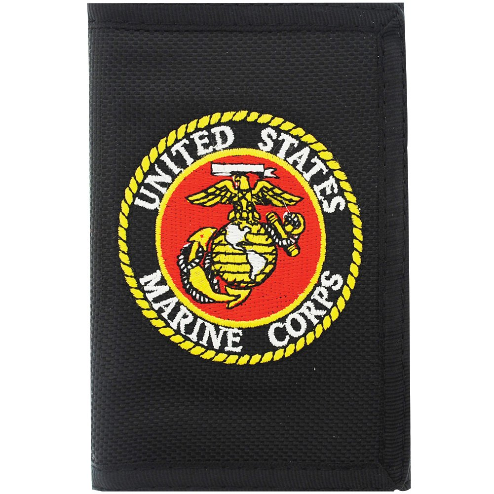 US Marine Corps Wallet Military Collectibles, Patriotic Gifts for Men, Women, Teens, Veterans Great Gift Idea for Wife, Husband, Relative, Boyfriend, Girlfriend, Grandparent, Fiance or Friend. Perfect Christmas Stocking Stuffer or Veterans Day Gift Idea. D