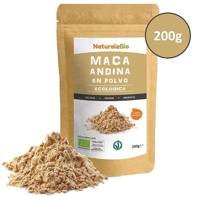 100% Peruana, Bio y Pura, extracto de raíz de Maca Organica. Superfood rico en aminoácidos, fibras, vitaminas.