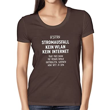 Texlab Meine Familie Scheint Nett Zu Sein - Damen T-Shirt, Größe S,