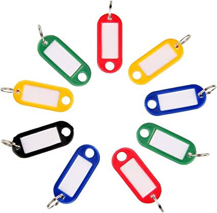 50 Stück Schlüsselanhänger Etiketten Schlüsselschilder Namensschilder