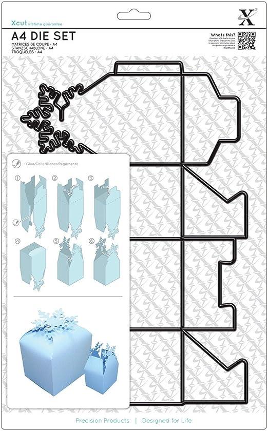 docrafts Caja de Troquel con Escena de Copo de Nieve de Acero A4 ...