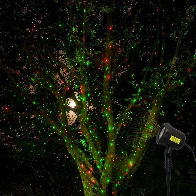 Amazon.com: Rojo & Verde Navidad Luces con mando a distancia ...