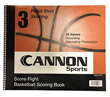 Amazon.com: CSI Cannon deportes Baloncesto scorebook: Sports ...