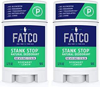 product image for FATCO Stank Stop All Natural Deodorant with Tallow and Organic Coconut Oil – Rosemary + Lemon 2-Pack (1.7 oz)
