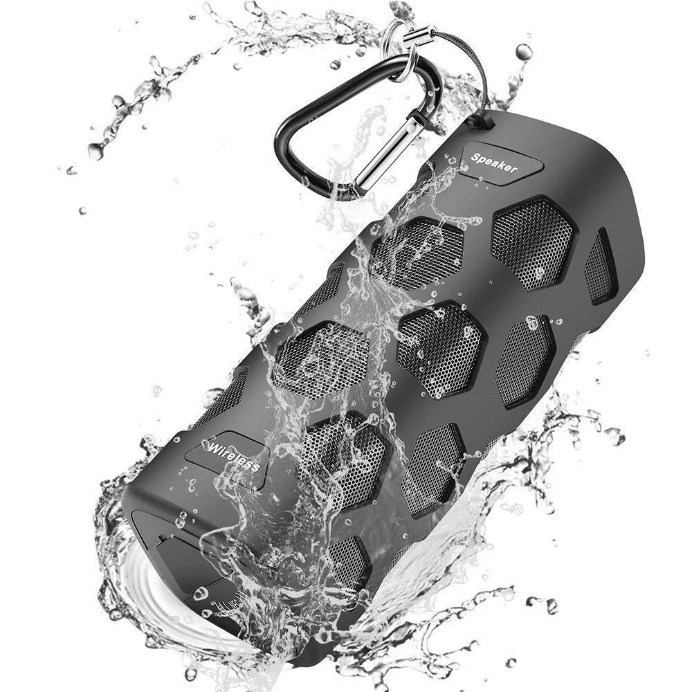 Altavoz Bluetooth Portatiles, 20W Estéreo Premium Altavoz Inalambrico, 5200mAh IPX56 Impermeable y Driver Doble, A Prueba de Polvo Resistente a Golpes Micrófono