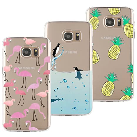 coque samsung s7 silicone flamant rose