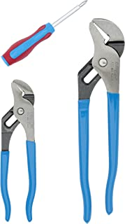 product image for Channellock GS-1S Tongue and Groove Plier Set with 2 in 1 Screwdriver, 2-Piece