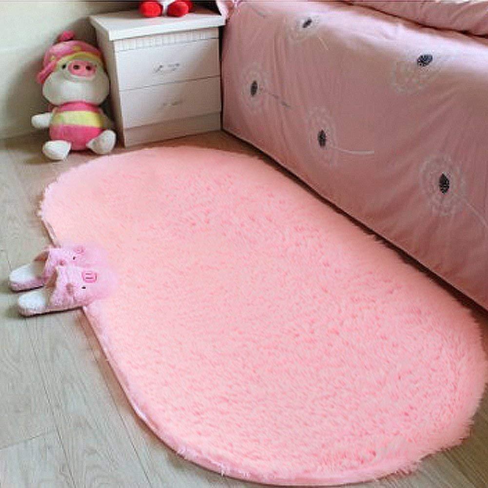 LOCHAS Ultra Soft Children Rugs Girls Room Mat Shaggy Area Rugs Baby Nursery Home Decor Kids Room Carpet 2.6' X 5.3', Pink