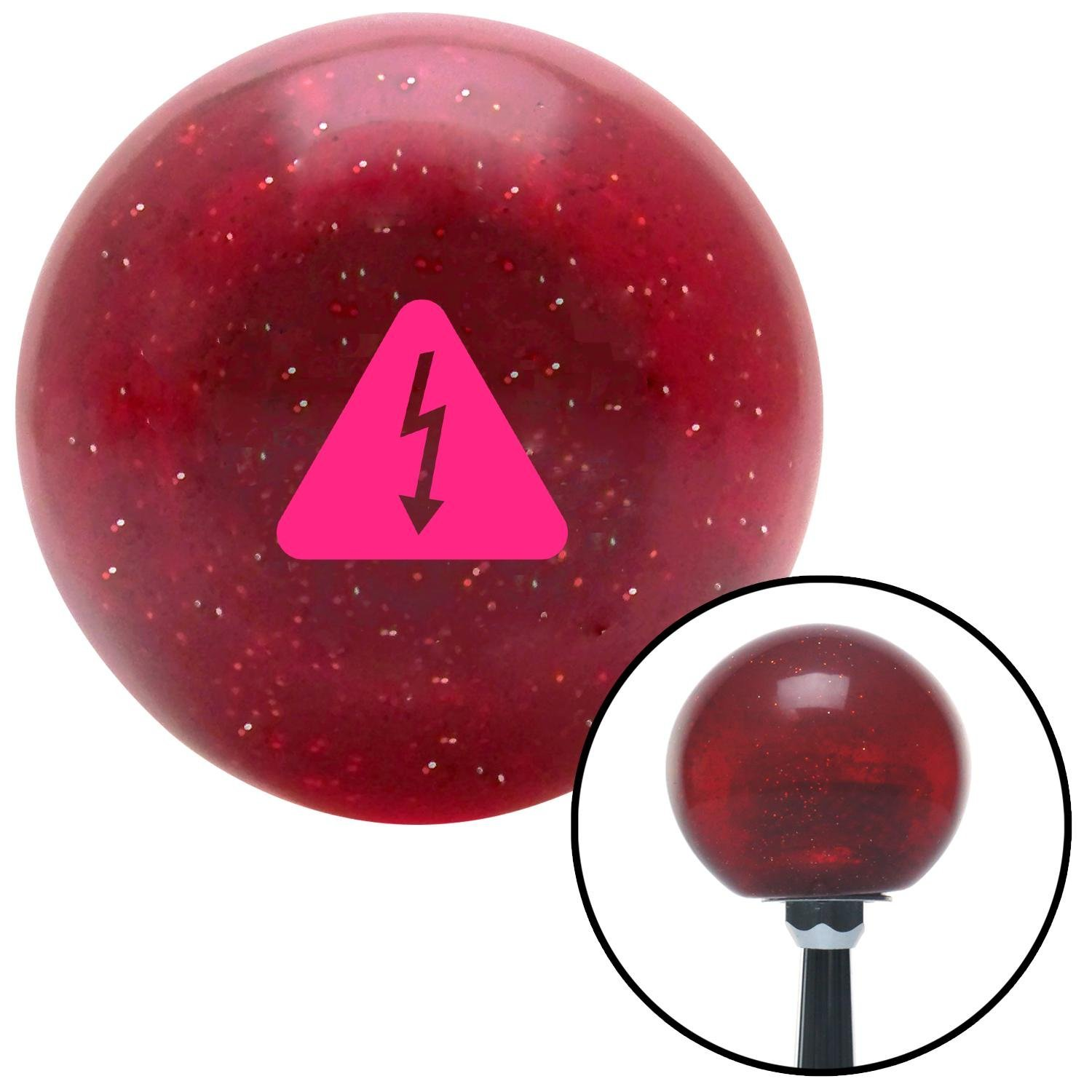 American Shifter 282177 Shift Knob Pink High Voltage Red Metal Flake with M16 x 1.5 Insert