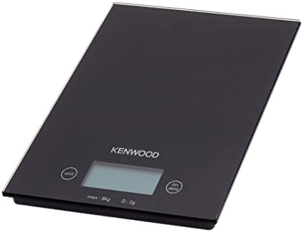 Kenwood BASCULA Cocina DS400 Electronica,MAX.8KG, Vidrio, Negro