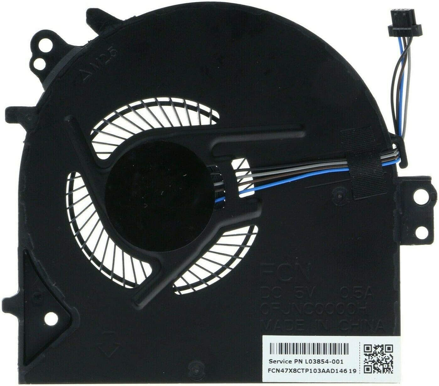 Replacement CPU Cooling Fan Compatible with HP Probook 450 G5, Probook 455 G5 Laptop P/N: L03854-001